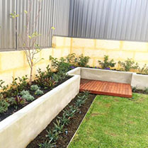 Mulch, new plants and decking