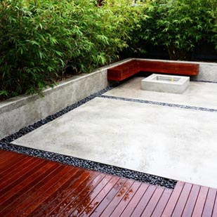 Japanese decking and garden